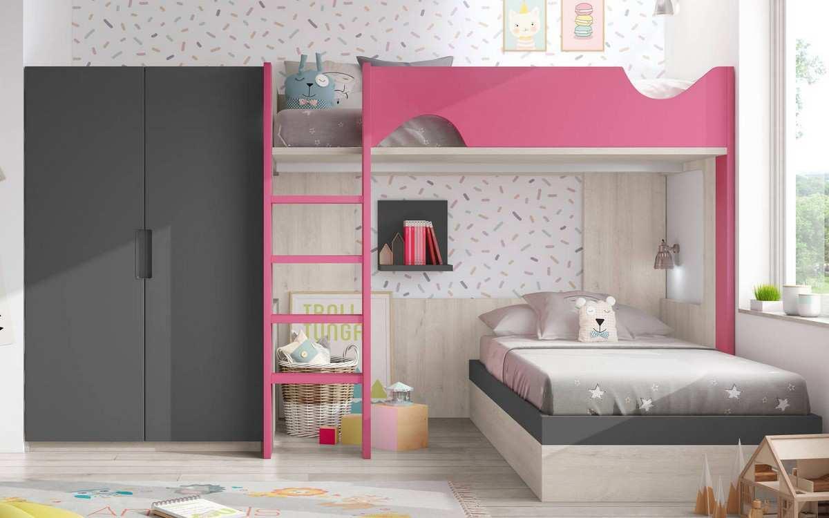 literas juveniles muebles mesquemobles. Black Bedroom Furniture Sets. Home Design Ideas